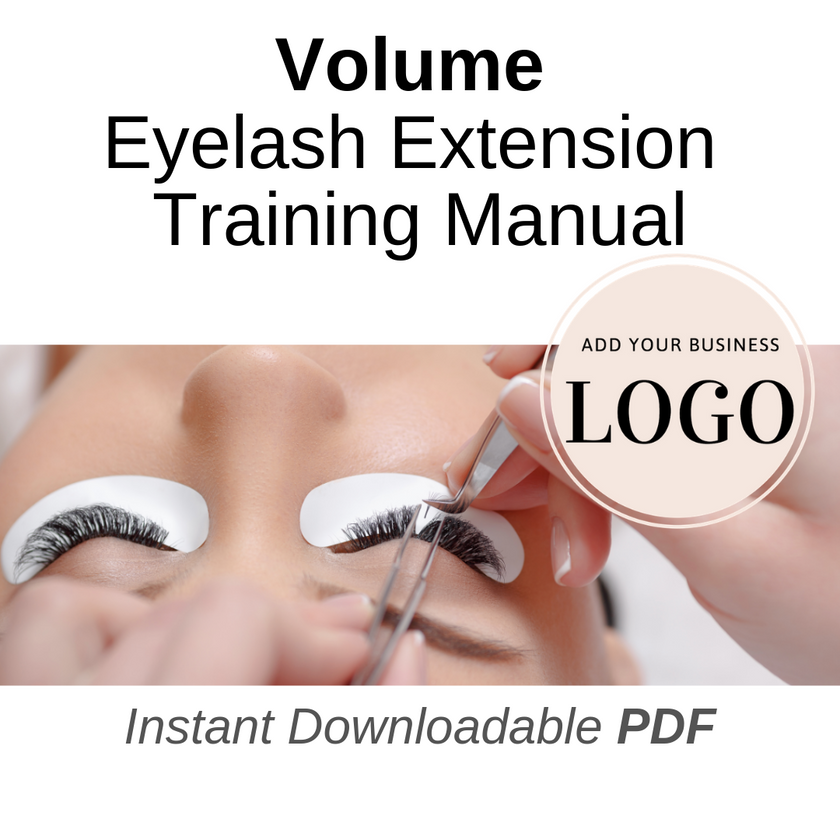 private labeled volume lash extension manual