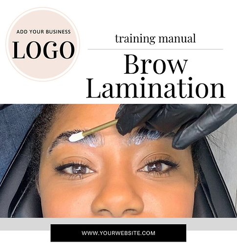 Brow Lift/Lamination Training Manual (Instant Download PDF)