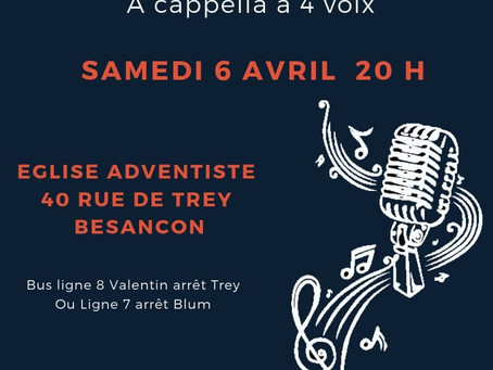 Concert Gospel 6 avril - Besançon