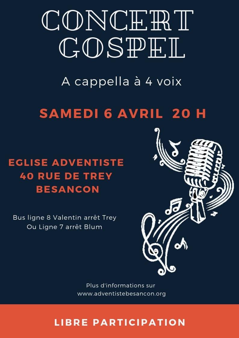 Concert Gospel Besançon - 06 avril 2019