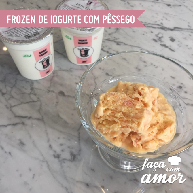 Frozen de iogurte com pêssego