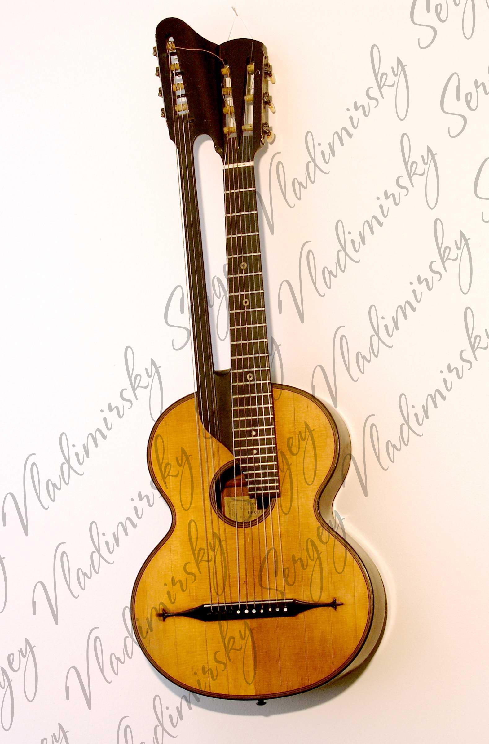 Семиструнная гитара с дополнительным басовым грифом