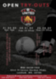 United Internazionale FC Tryout Flyer 20