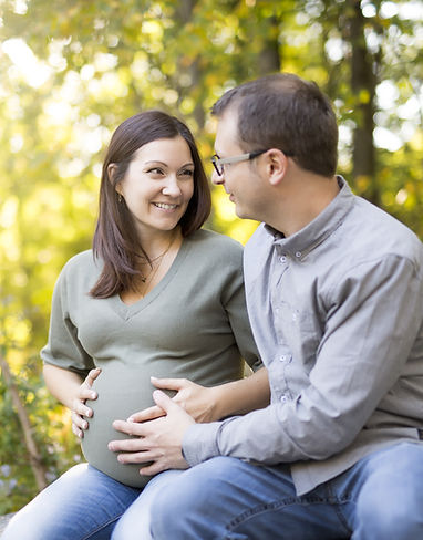 Happy pregnant couple.