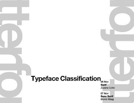 Letterform Live Type Hierarchy Poster