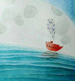 red boat...