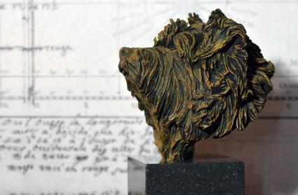 Norfolk Terrier bronze sculpture
