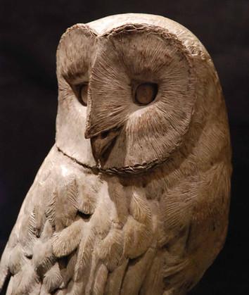 Barn Owl bronze sculpture