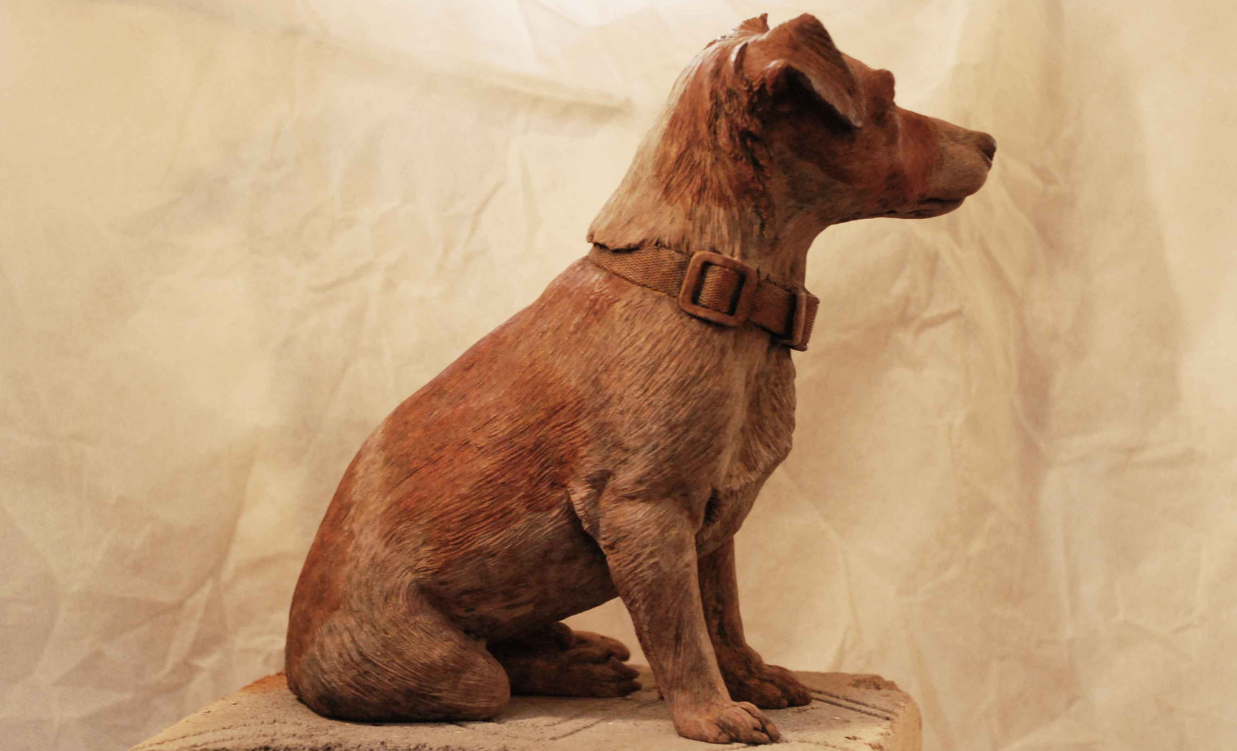 Jack Russell bronze sculpture