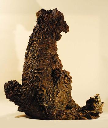 Airedale Terrier bronze sculpture