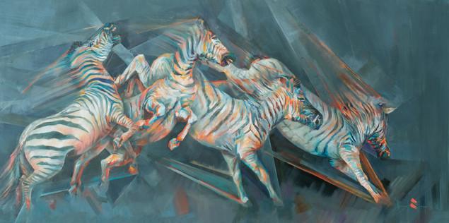 Technicolour Zebra