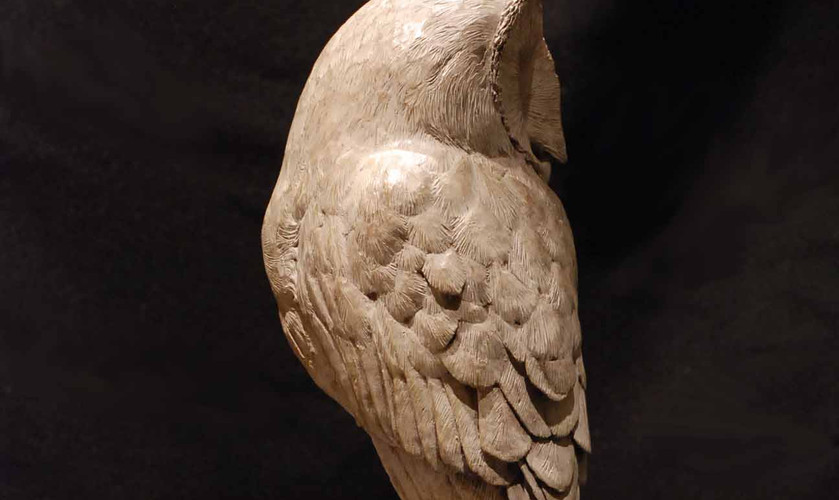 Barn Owl bronze sculpture