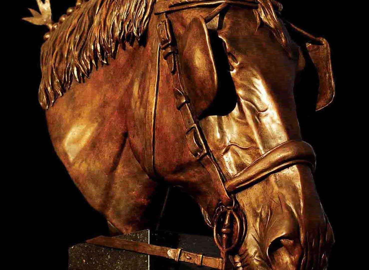 Shire horse bronze sculpture