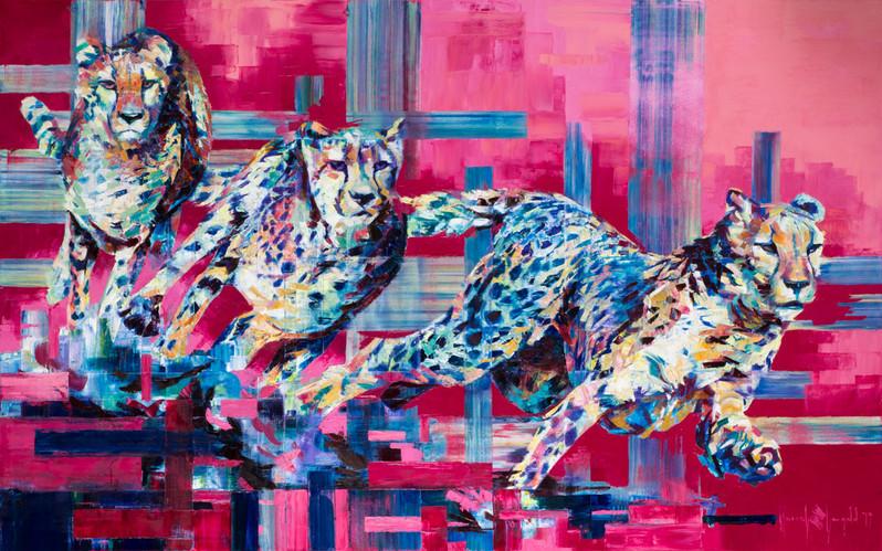 Cheetah in full flight
