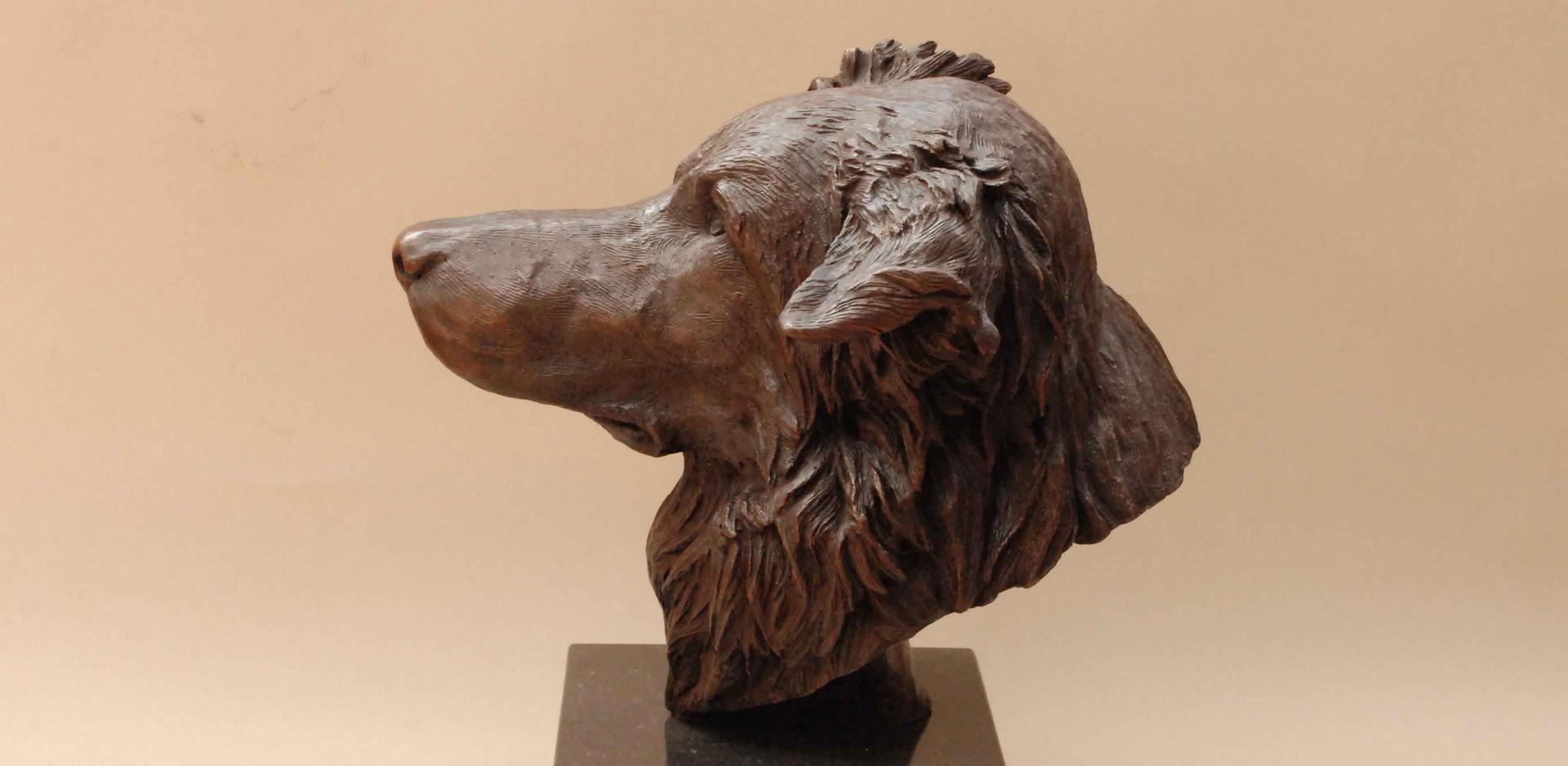 Border Collie bronze sculpture