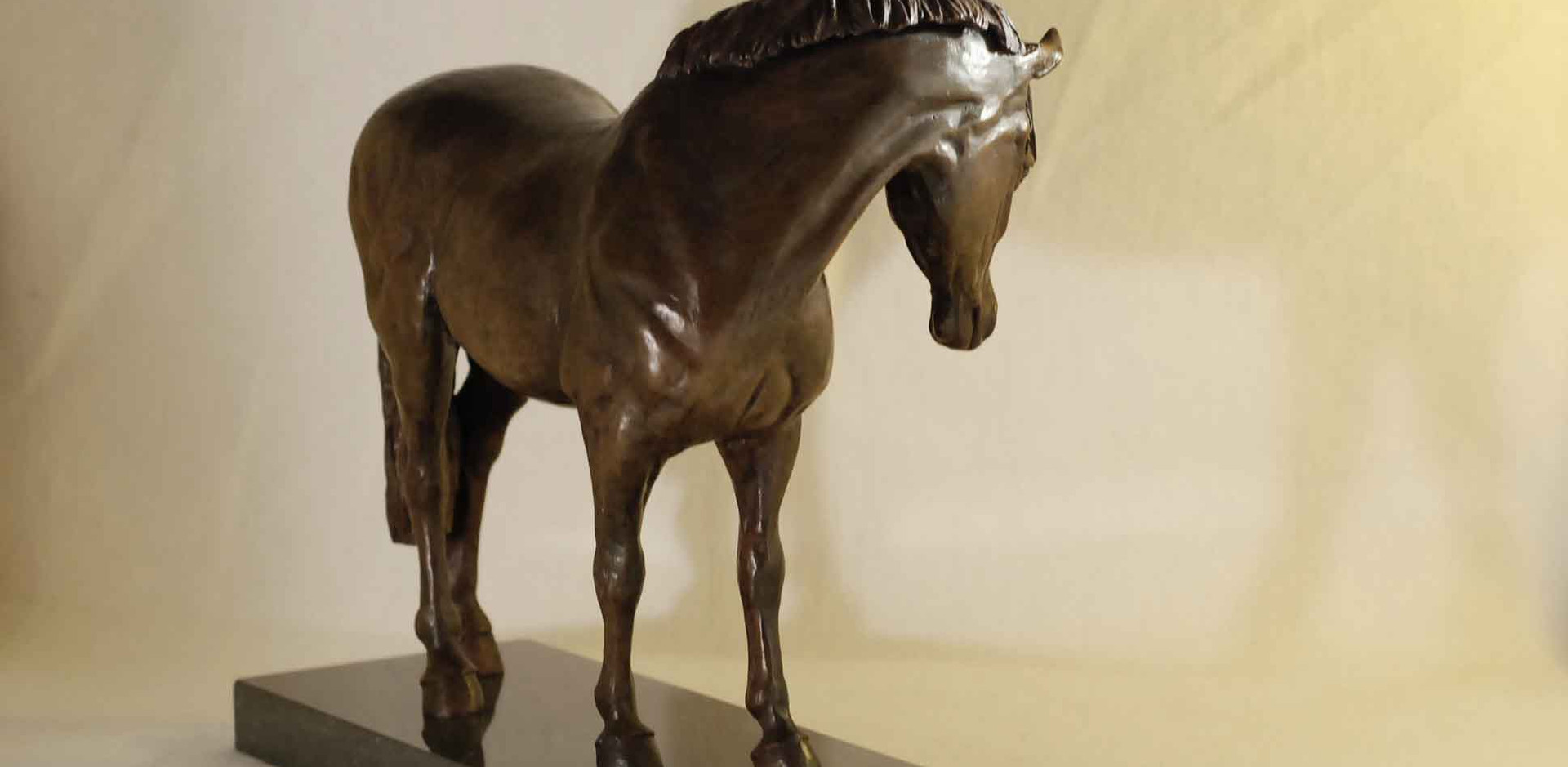 Welsh pony horse bronze sculpture
