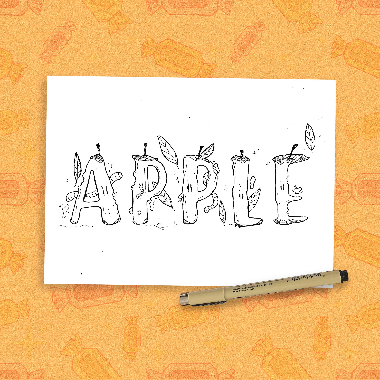 Inktober - Apple