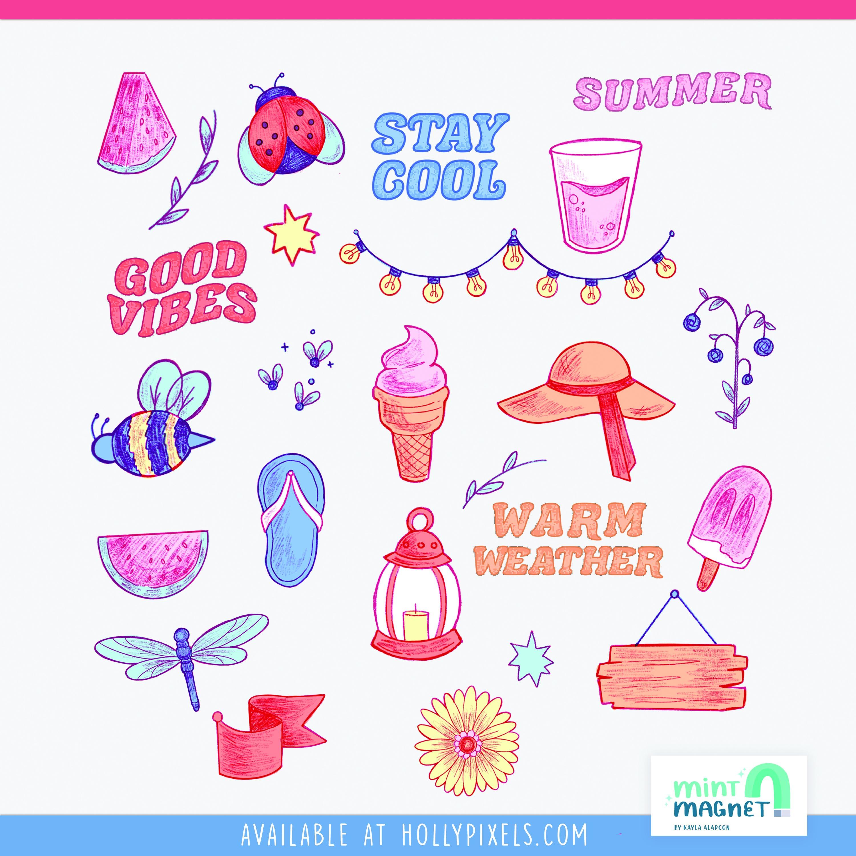 Second Night of Summer Sticker Design