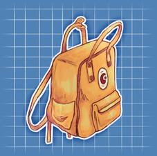 Universal Art Back Pack Sticker