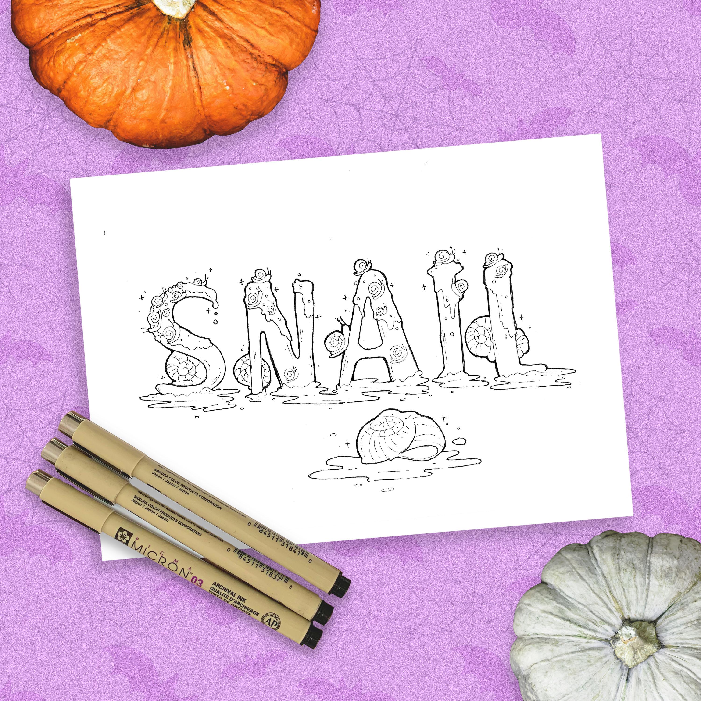 Inktober - Snail