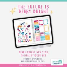 Berry Bright New Year Digital Planner Sticker Set