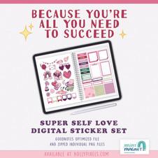 Super Self Love Digital Planner Sticker Set