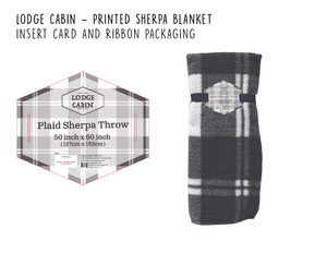 Lodge Cabin Plaid Sherpa Throw Blanket