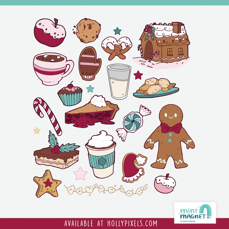 Holiday Treats Sticker Design