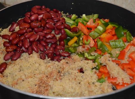 Quinoa Enchilada with Black Bean & Bell Pepper