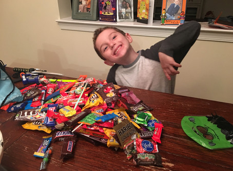 Halloween Candy. Sticky situation?