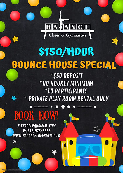 Copy of Bounce house birthday party invi