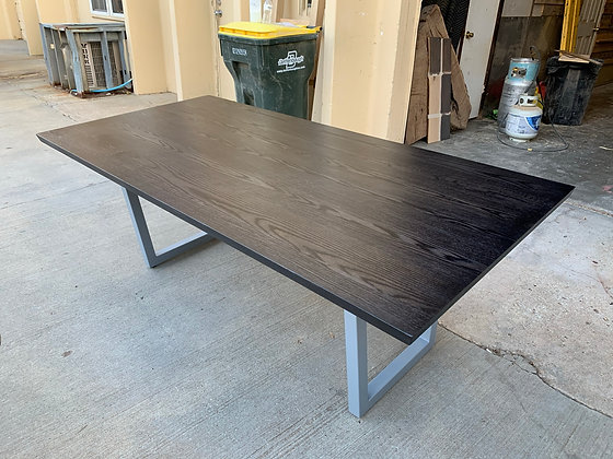 Red Oak Dining Table with Black Stain 268