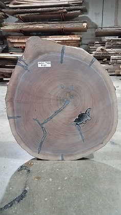 "Black Walnut (1302) 27"" L x 25"" W x 2.75"" T"