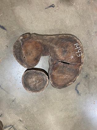 """Black Walnut (1443) 50"""" L x 44"""" W x 4.25"""" T"""