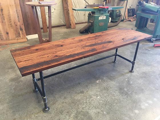 Reclaimed Red Oak Desk 244