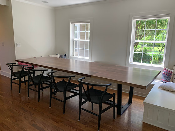 Walnut Banquette Dining Table 255