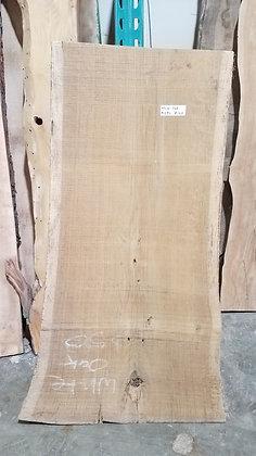 """White Oak (1257) 45"""" L x 18-23"""" W x 2"""" T"""