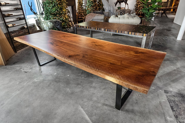 Walnut Bookmatch Dining Table 272