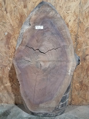 "Black Walnut (1342) 39"" L x 19"" W x 2.5"" T"