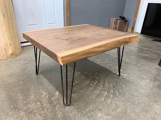 Live Edge Walnut Coffee Table on Hairpin Legs
