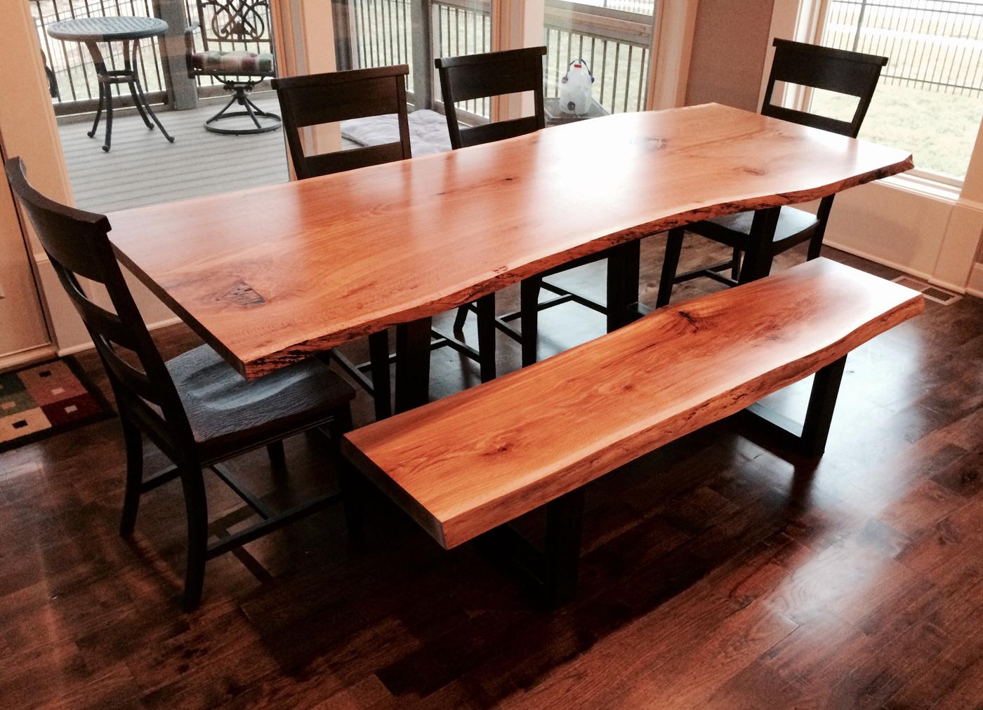 custom dining room tables   KC Custom Hardwoods   Live Edge Tables and Slabs