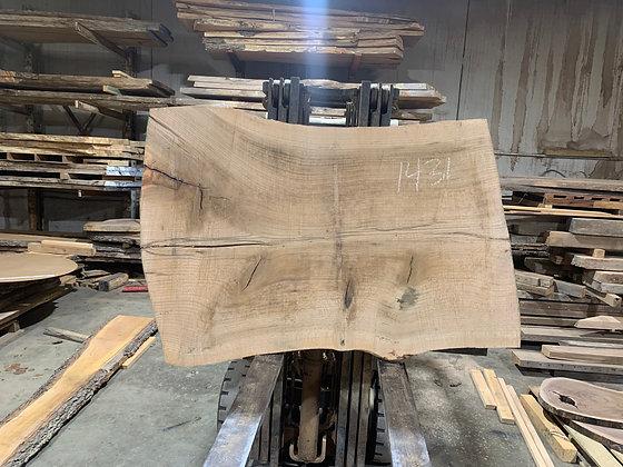 """Pin Oak (1431) 65"""" L x 41-48"""" W x 2.75"""" T"""