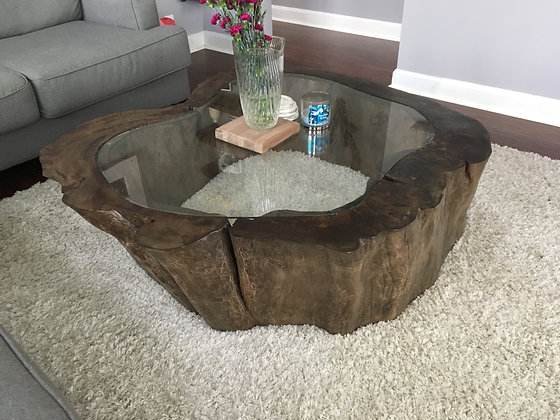 Sycamore Cross Cut Coffee Table 175