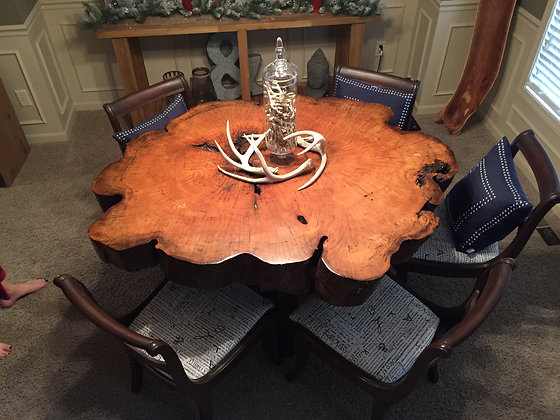 Maple Cross Cut Dining Table 174