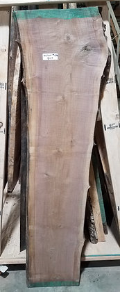 "Black Walnut (1270) 63"" L x 12.5-15"" W x 1.5"" T"