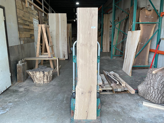 """White Oak (1372) 70.5"""" L x 12-13.5"""" W x 2.25"""" T"""