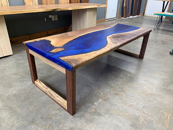 Walnut Epoxy River Coffee Table 126