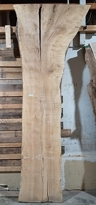 "Spalted Maple (1306) 118"" L x 23-37"" W x 2.75"" T"