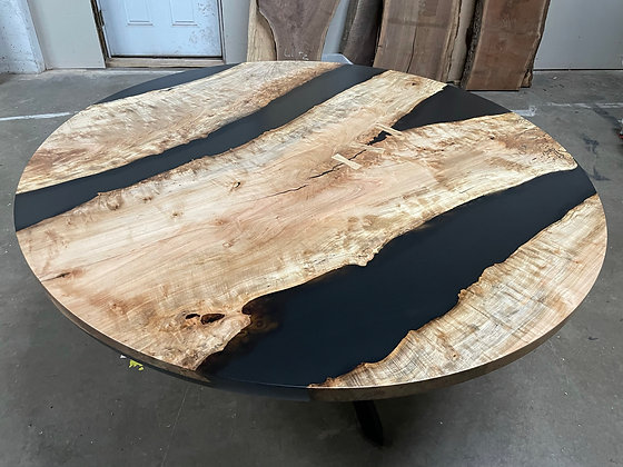 Maple Epoxy River Dining Table 281