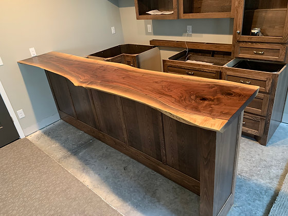 Walnut Bar Top 181